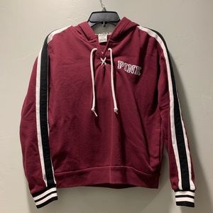 PINK maroon long sleeve pullover